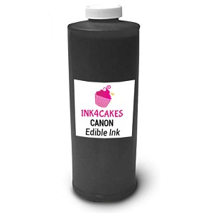 Edible ink refill for Canon- Black 1 liter (34oz)