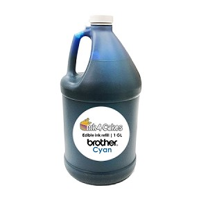 Cyan edible ink refill for BROTHER printers | 1 GL